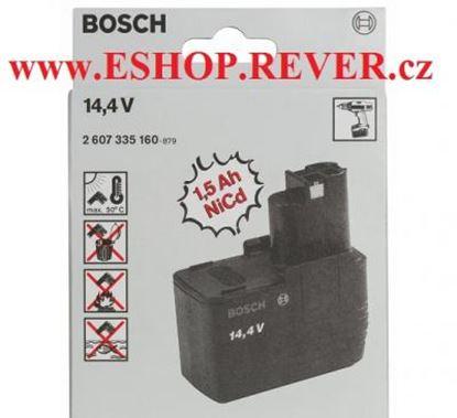 Obrázek akumulátor plochý Bosch 14,4 V 1,5 Ah NiCd original 2607335160