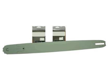 Image de 40cm vodící lišta drive 3/8 2x řetěz Stihl 040 041 AV 040AV hran GRATIS OLEJ pro 5L paliva