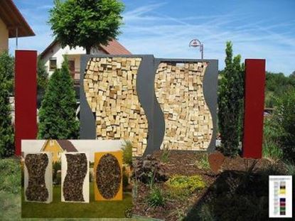 Image de dřevník moderní zahrada design přístřešek na dřevo XJ578442