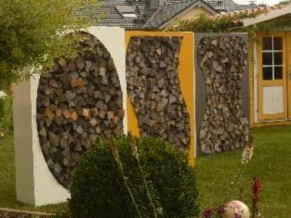 Image de dřevník přístřešek na dřevo moderní zahrada zahradní design 98865KS