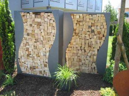 Imagen de dřevník přístřešek na dřevo moderní zahrada zahradní design AA56654