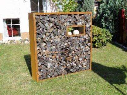 Image de dřevník přístřešek na dřevo moderní zahrada zahradní design AS12422