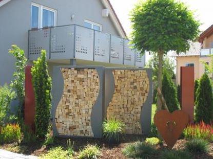 Image de dřevník přístřešek na dřevo moderní zahrada zahradní design DD54445