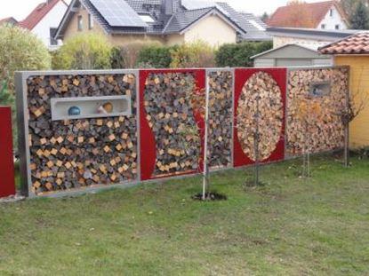 Imagen de dřevník přístřešek na dřevo moderní zahrada zahradní design FF34443