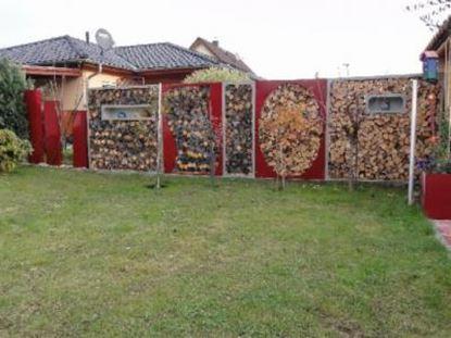 Imagen de dřevník přístřešek na dřevo moderní zahrada zahradní design FFS66332