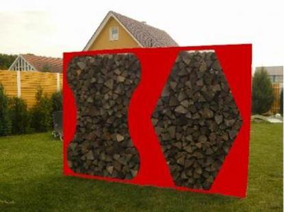 Imagen de dřevník přístřešek na dřevo moderní zahrada zahradní design LL777332