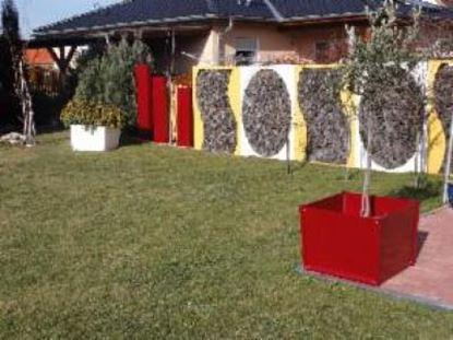 Imagen de dřevník přístřešek na dřevo moderní zahrada zahradní design LL98455