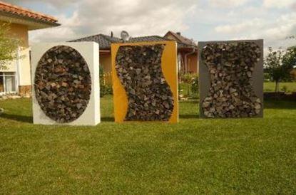Imagen de dřevník přístřešek na dřevo moderní zahrada zahradní design P2x56774