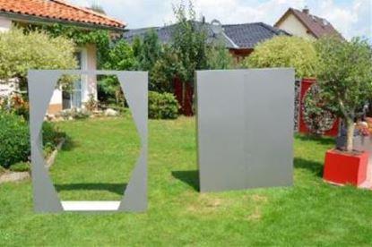 Imagen de dřevník přístřešek na dřevo moderní zahrada zahradní design QE57783