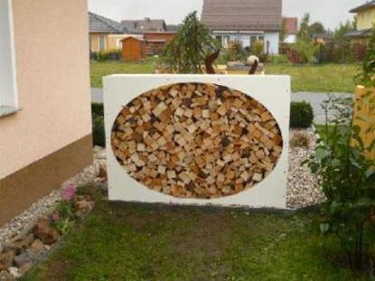 Picture of dřevník přístřešek na dřevo moderní zahrada zahradní design QW3557
