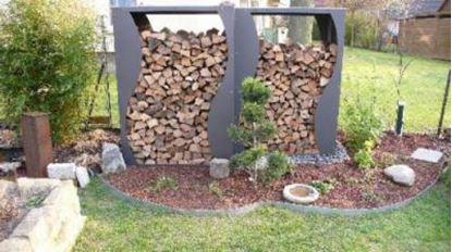 Picture of dřevník přístřešek na dřevo moderní zahrada zahradní design SH56998