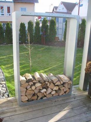Picture of dřevník přístřešek na dřevo moderní zahrada zahradní design WW57798