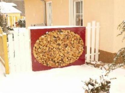 Imagen de dřevník přístřešek na dřevo moderní zahrada zahradní design YY22556