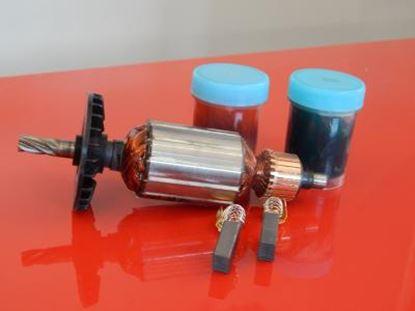 Obrázek kotva rotor Hitachi DH24 DH24PA DH24PB DH24PC nahradí originál a ventilator uhlíky mazivo - armature anker armadura armatura Reparatursatz Wartungssatz service repair kit