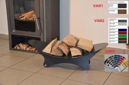 Picture of moderní dřevník design koš krbový regál krbové dřevo 20x71x40 XK399-2 ral 7016