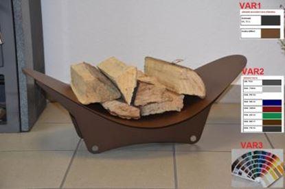 Picture of moderní dřevník design koš krbový regál krbové dřevo 27x78x40 XK411-5 corten efekt hluboká