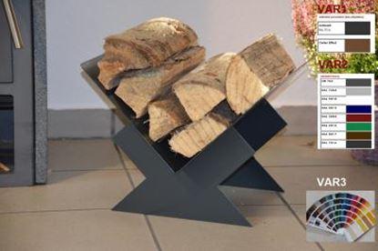 Picture of moderní dřevník design koš krbový regál krbové dřevo 30x40x35 XE441-9 RAL7016