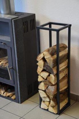 Picture of moderní dřevník design přístřešek koš krbový regál krbové dřevo 90x25x23