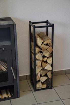 Picture of moderní dřevník design přístřešek koš krbový regál krbové dřevo 90x25x23 XKO-LL