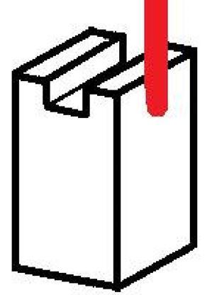 Picture of uhlíky 6,0x6,0x25mm elektromotor 12V 24 aku ventilátor stěrače klima topení vrata carbon