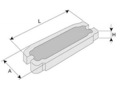 Image de pojistka zub zubu na bagr pro typ System BOFORS velikost B1 31201 6254675 75x32 pro 31101 31102 31201