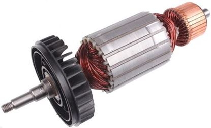 Picture of armature rotor fan Makita GA9040 GA 9040 replace origin / maintenance repair service kit high quality / carbon brushes and grease FREE