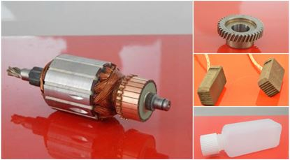 Bild von Anker Rotor + Zahrad HILTI TE55 TE 55 TE-55 ersetzt original 203263/9 (ekvivalent) Wartungssatz Reparatursatz Service Kit hohe Qualität Ölfüllung und Kohlebürsten GRATIS + 2 Kugellager