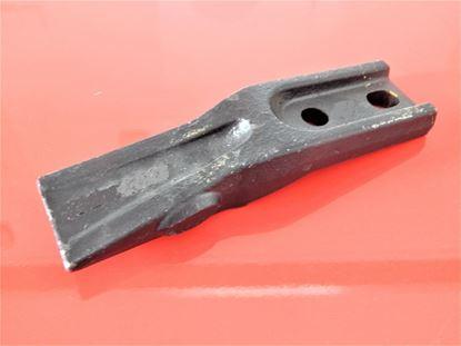 Image de plochý prostřední zub na lopatu pro bagr typ JCB mini system jednostranný nahradí 522-00102 52200102 192M4417 rozteč 40-45 mm TOP 40mm-45mm