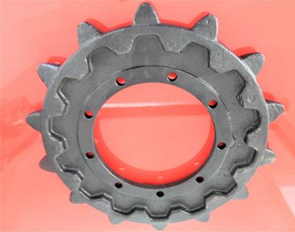Image de pignon turas roue motrice pour Komatsu PC10-7 mit Gummikette