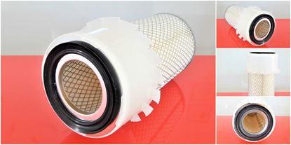 Obrázek vzduchový filtr do Kubota minibagr KX 121-2 od serie 55136 motor Kubota V 2203 filter filtre