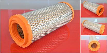 Obrázek vzduchový filtr do Kobelco SK 35SR-2 motor Yanmar 3TNE82A filter filtre