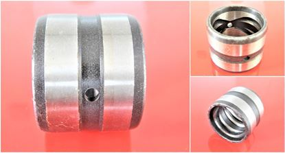 Picture of 110x125x110 mm steel bushing inside with lubrication groove / outside with lubrication groove / 2x lubrication hole