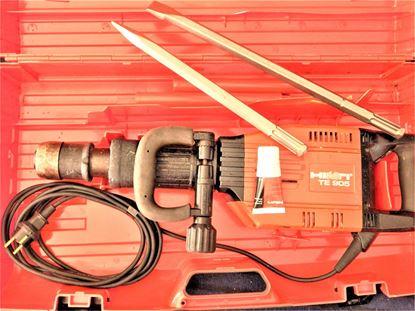 Image de HILTI TE 905 TE 905 Marteau burineur Marteau de démolition TOP avec accessoires Ciseau Garantie et facture