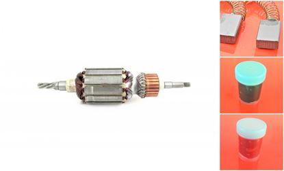 Obrázek kotva rotor pro Makita HR4000C HR 4000C 4000 C + uhlíky převodové mazivo GRATIS - armature anker armadura armatura Reparatursatz Wartungssatz service repair kit