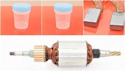 Image de ancre rotor Makita HR 4000 C 4000C HR4000 HR4000C HR4000-C HR 4040 remplacer l'origine 516328-1 / kit de service de maintenance de réparation haute qualité / balais de charbon et graisse gratuit