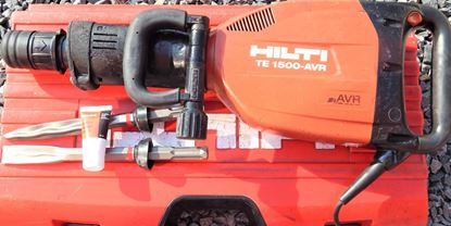 Picture of HILTI TE1500AVR Chipping hammer TOP demolition hammer with accessories Chisel Warranty and invoice