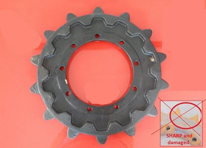 Picture of sprocket Turas for Komatsu PC20 PC22 PC20MR.1 PC20MR.2 PC20MR.2F PC20MR.3 PC20MRX.1 PC20UU.3 PC22MR.3F