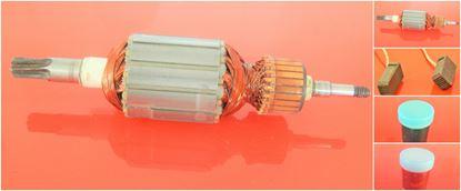 Bild von Anker Rotor PREMIUM Makita HR 4010 C HR 4011C ersetzt original 513633-7 (ekvivalent) Wartungssatz Reparatursatz Service Kit hohe Qualität Fett und Kohlebürsten GRATIS