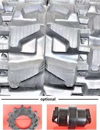 Obrázek Gumový pás pro Bobcat 319 nerezové zámky nerezové ocelové lana - pozor existují 2 verze T230/72/41 a 190/72/41 zde se jedná o patentovaný profil / nerezový