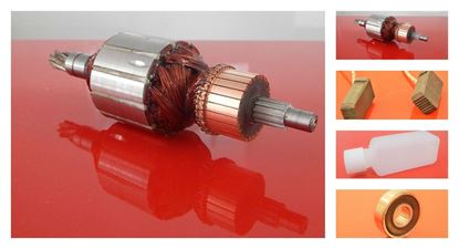 Picture of armature rotor HILTI TE 75 TE75 TE 74 TE74 replace origin 206250/3 / maintenance repair service kit high quality / carbon brushes and oil FREE