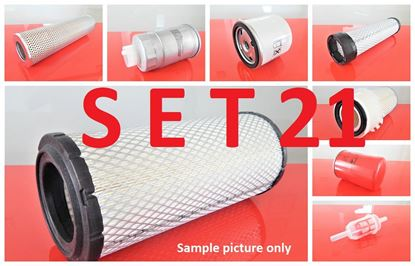 Picture of Filter set service for Ahlmann AX100 with engine John Deere 4024T456015 Set21