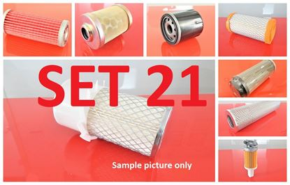 Picture of Filter set service for Case CX35BZTS with engine Yanmar from serial PX15-20658 Set21