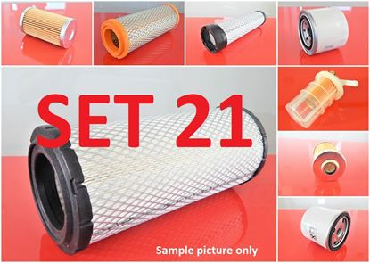 Picture of Filter set service for Komatsu PC27R-8 to serial 32153 with engine Komatsu 3D82AE Set21