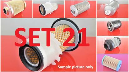 Picture of Filter set service for Kubota KH10 with engine Kubota D1101 to serial 51041 Set21