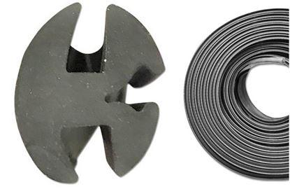 Obrázek těsnění skla 6mm / 6,4mm těsnící guma