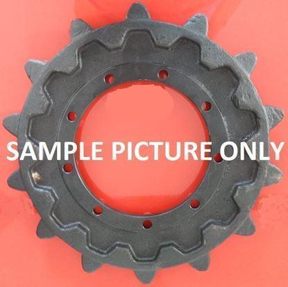 Imagen de sprocket rueda motriz 230/16/23/512/38 fits Schaeff 805R HR42 HR32 Terex TC125 TC75 Bobcat 442 444
