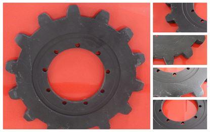 Imagen de sprocket rueda motriz por Komatsu PC20 PC22 PC20MR.1 PC20MR.2 PC20MR.2F PC20MR.3 PC20MRX.1 PC20UU.3 PC22MR.3F