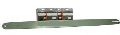 Obrázek 105cm vodící lišta solid 3/8 4x řetěz KU Stihl MS461 MS 461 GRATIS OLEJ pro 5L paliva