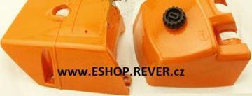 Obrázek 2ks kryty pro karburátor a válec Stihl 066 MS 660 MS660 GRATIS OLEJ pro 5L paliva