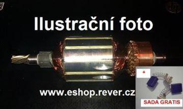 Obrázek kotva Makita 6347 D uhlíky GRATIS nahradí originál díly - rotor anker armature armadura armatura Reparatursatz Wartungssatz service repair kit